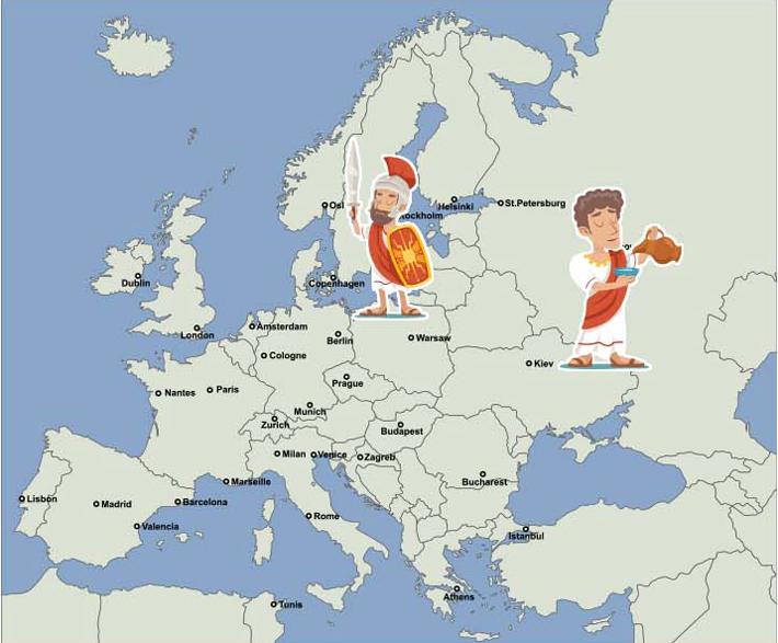 ヨーロッパ_ローマ地図
