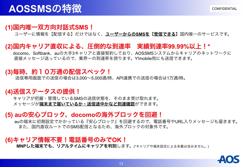 AOS SMSの特徴