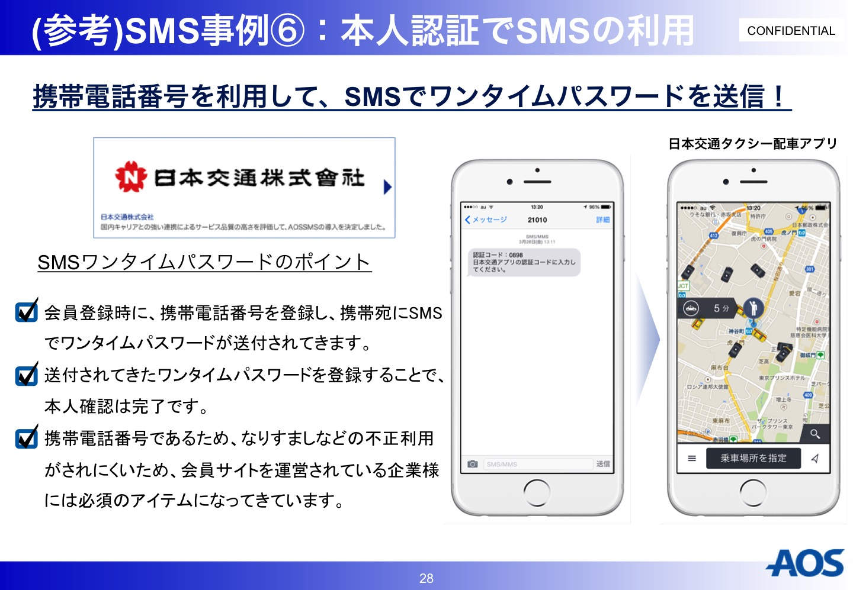 AOS SMS事例 本人認証