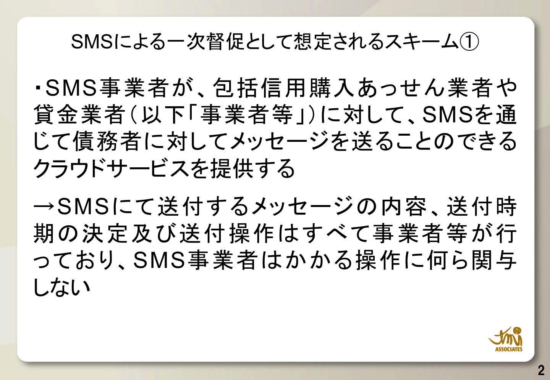SMSによる督促として想定されるスキーム1